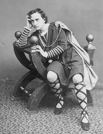 photo de l'acteur Edwin Booth, 1870, jouant Hamlet