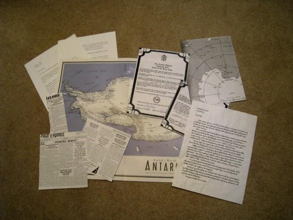 cartes et lettres pour la campagne Les Montagnes Hallucinées?