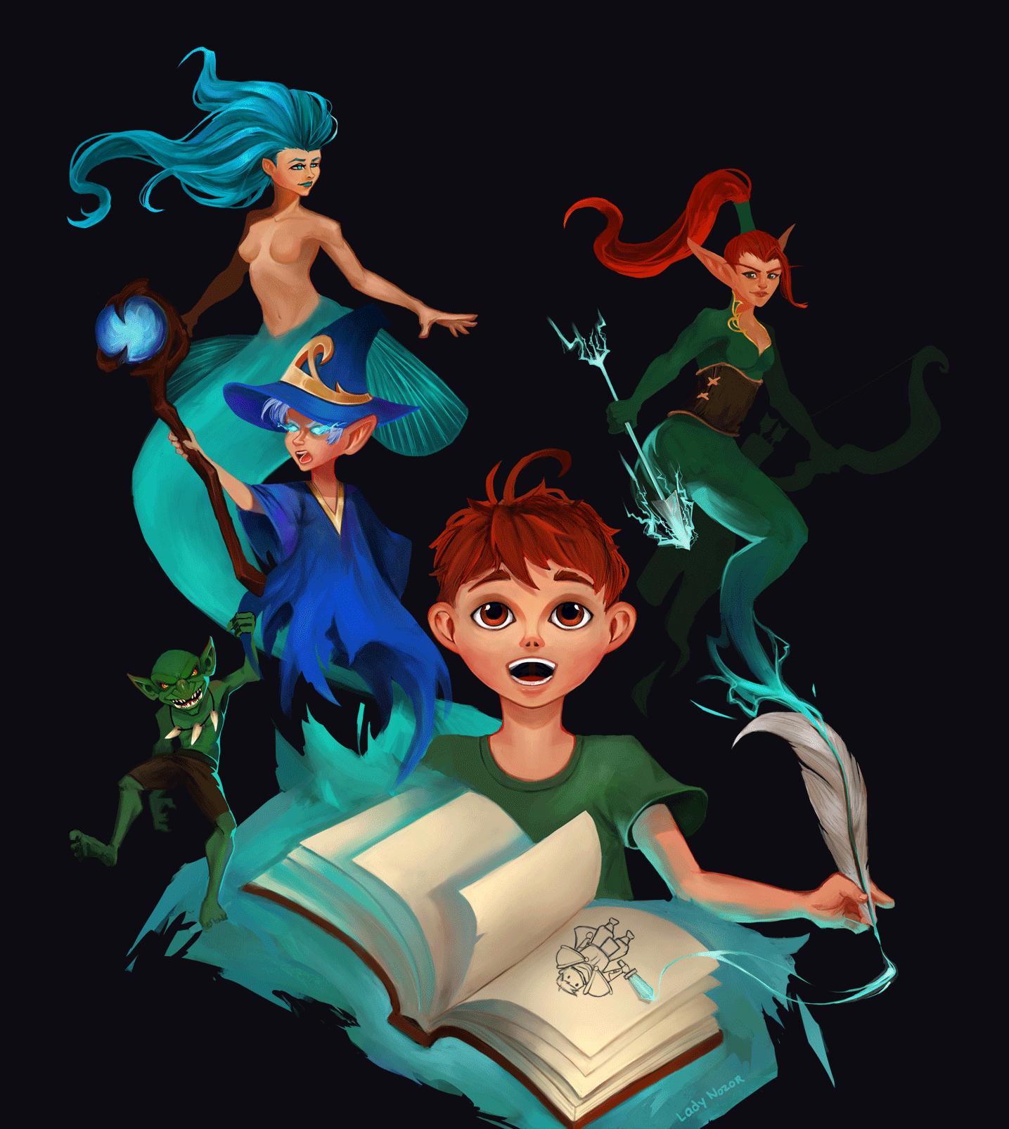 illustration de Lady Nozor