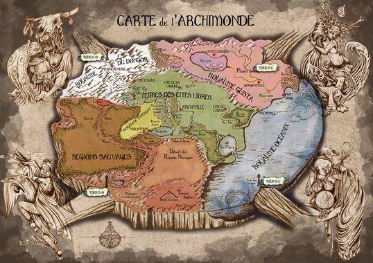 Carte de l'Archimonde
