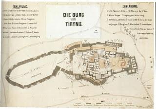 Plan de Tiryns (photo)