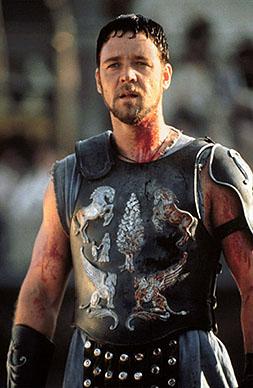 """Le héros en tenue """"Gladiator"""""""