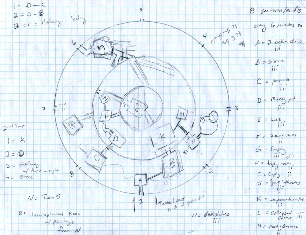 4e plan (sur 5) établi par la joueuse cartographe