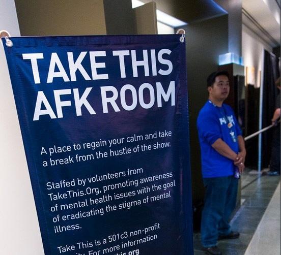 Entrée d'une salle AFK