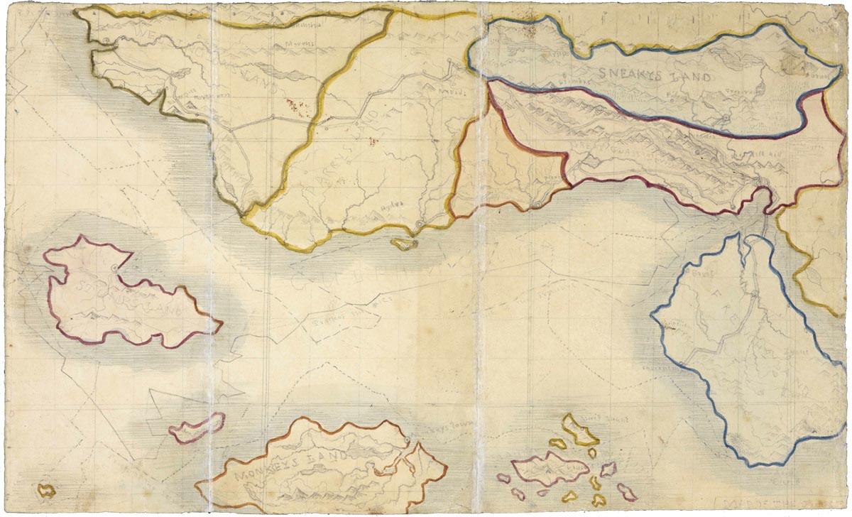 Carte imaginaire des soeurs Brontë