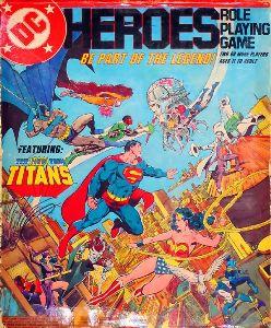 Couverture du JdR DC Heroes