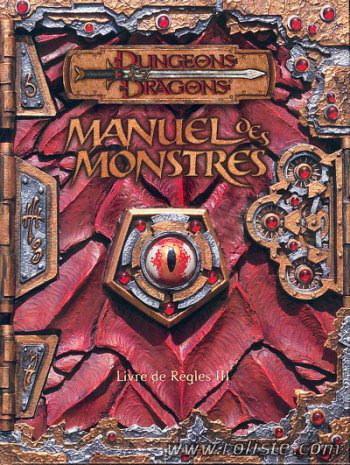 couverture du Manuel des Monstres, pour DnD3