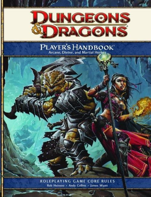 couverture du livret des joueurs de la 4e édition de D&D