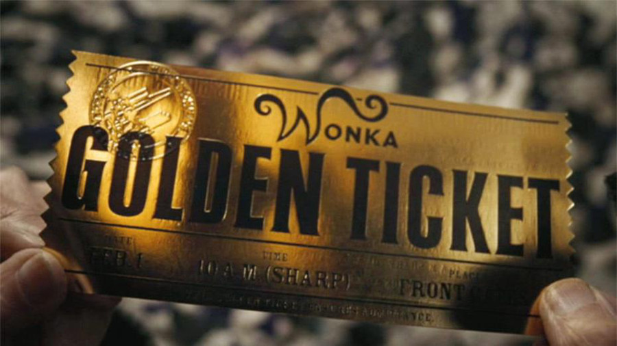 Le ticket d'or de Charlie et la Chocolaterie