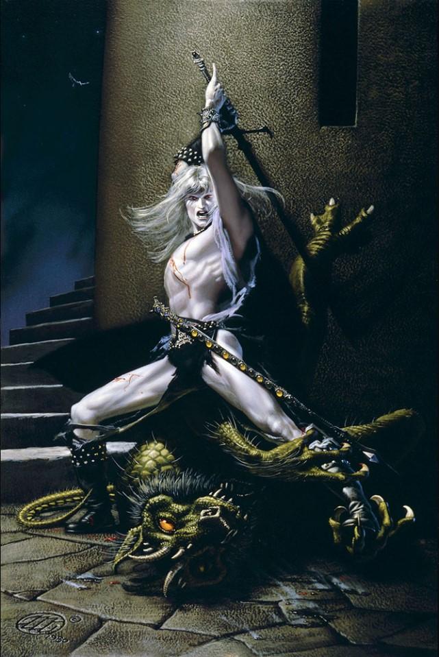 Elric le Massacreur de Démon, par Michael Whelan