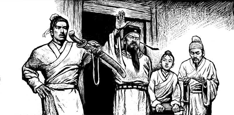Juge et ses assistants (BD Juge Bao)