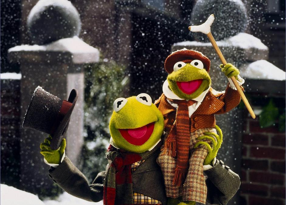 photo des personnages-marionettes Tiny Tim et Bob Cratchit, du Muppet Show dans le film spécial Chant de Noël