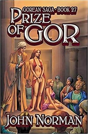 couverture d'un livre du cycle de Gor  - avec femmes esclaves nues et soumises