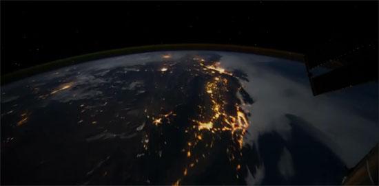 nuit sur terre depuis l'espace