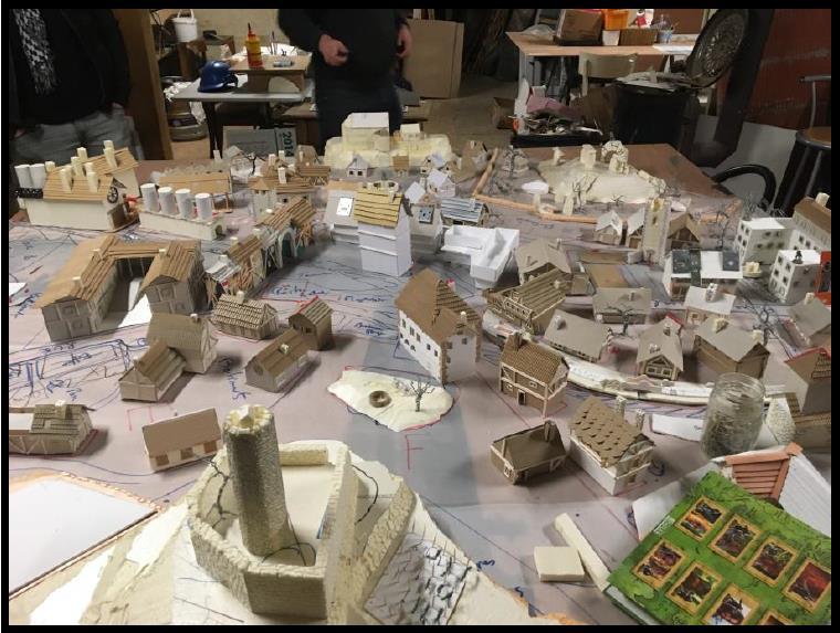 fabrication de décor Kaysersberg miniature mener la guerre des gangs