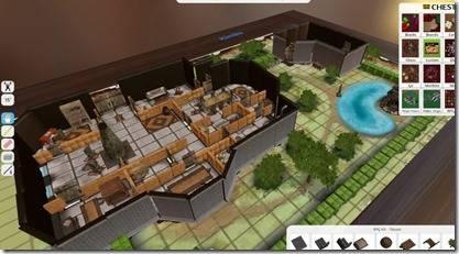 étage de forteresse en 3D isométrique sur écran