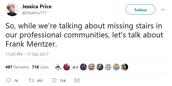Tweet de Jessica Price