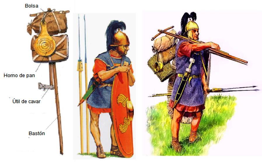 20-40 kg d'équipement pour le légionnaire