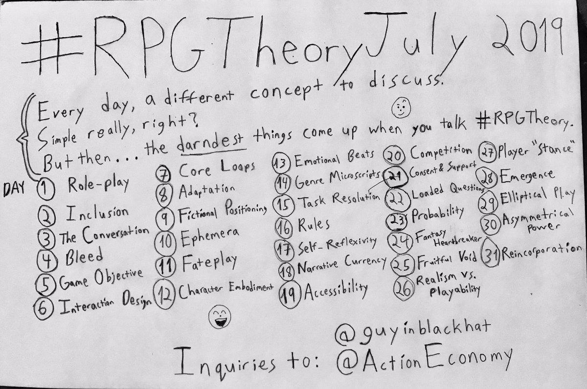 Programme du #RPG July