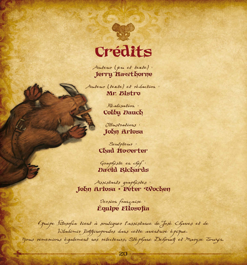 Crédits de Mice and Mystics