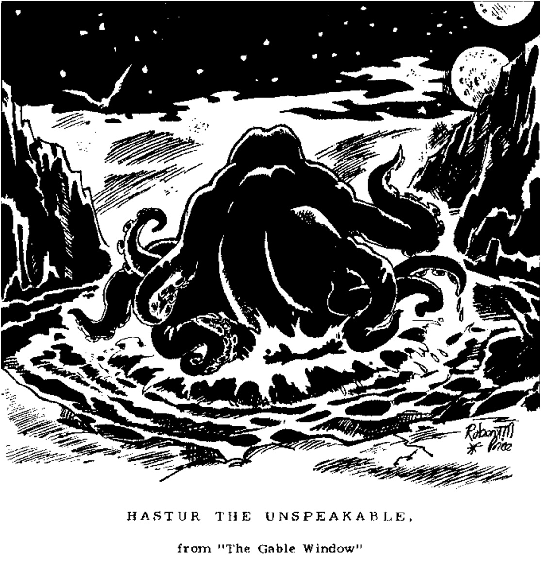 Hastur - grosse masse tentaculaire sur planète alien