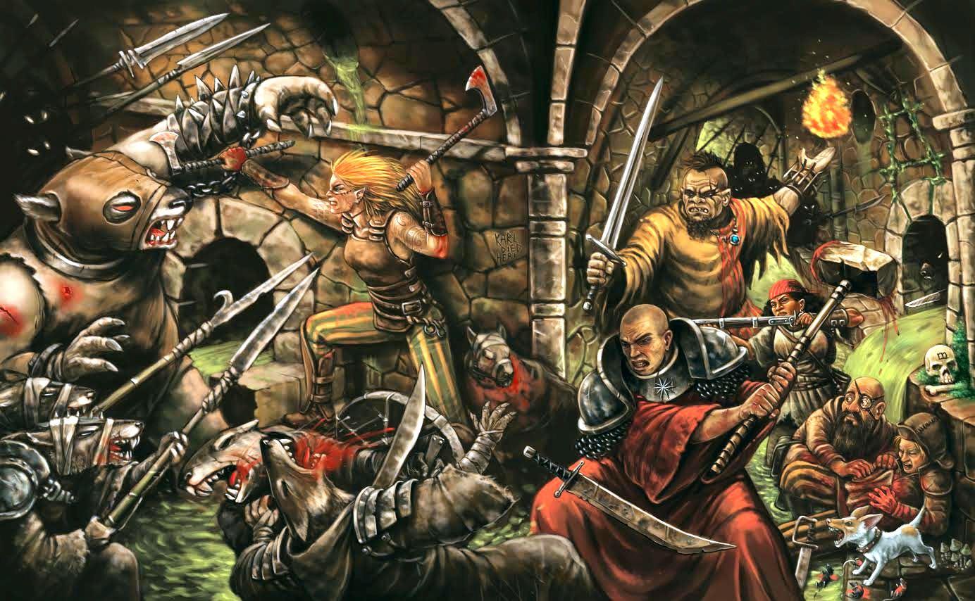 scène de mélée à Warhammer RPG