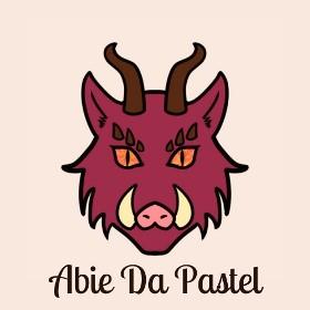 Bannière du blog Abie Da Pastel : une tête de sanglier pourpre