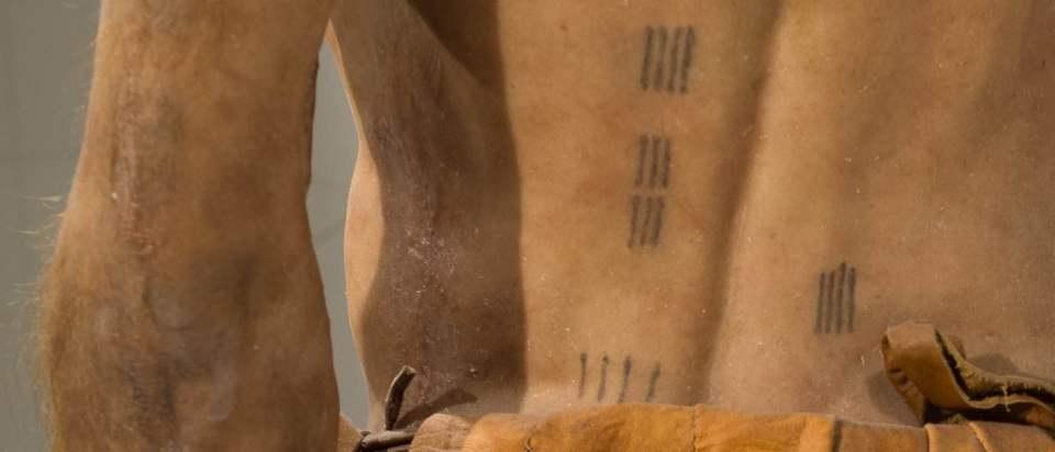 Dos d'Ötzy reconstitué et tatoué