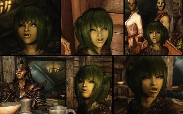 Portraits de plusieurs orcs dans World of Warcraft